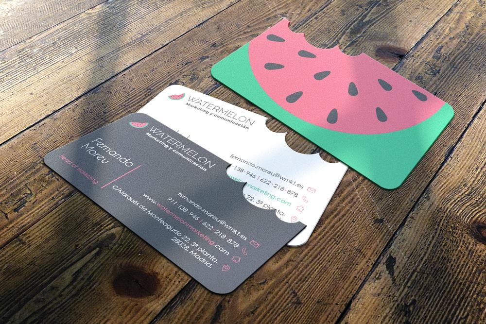tarjeta de visita watermelon